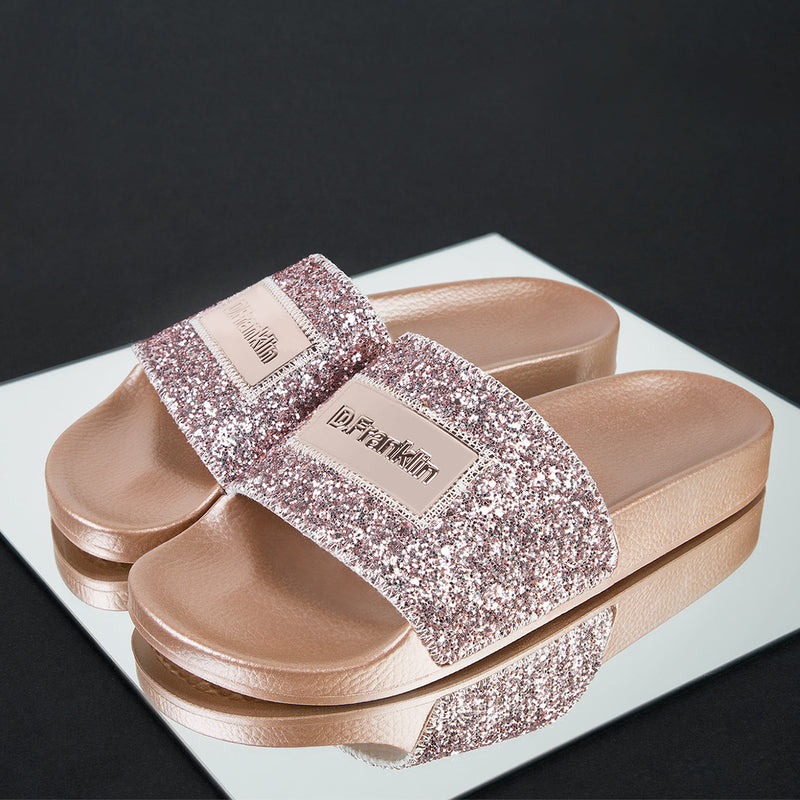 Glitter Label Slide Pink