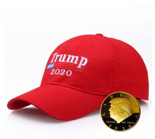 Load image into Gallery viewer, Trump 2020 Hat & Coin BUNDLE