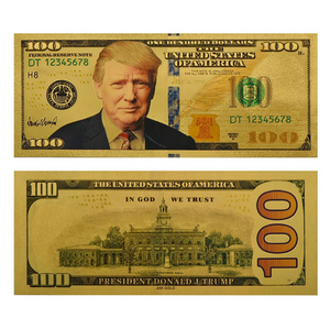 FREE! Gold Plated $100 President Donald J. Trump Commemorative Bank Note