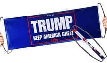 Load image into Gallery viewer, FREE! Trump 2020 Hand-Held Scrolling Banner