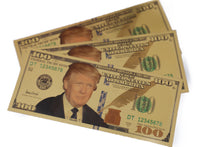 Load image into Gallery viewer, FREE! Gold Plated $100 President Donald J. Trump Commemorative Bank Note