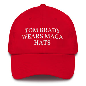 Brady Wears MAGA Hat