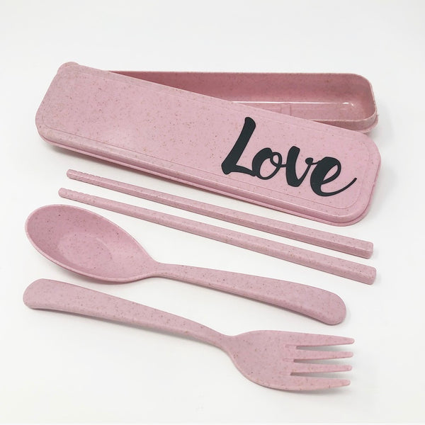 Reusable Cutlery Kit - Wheat Straw