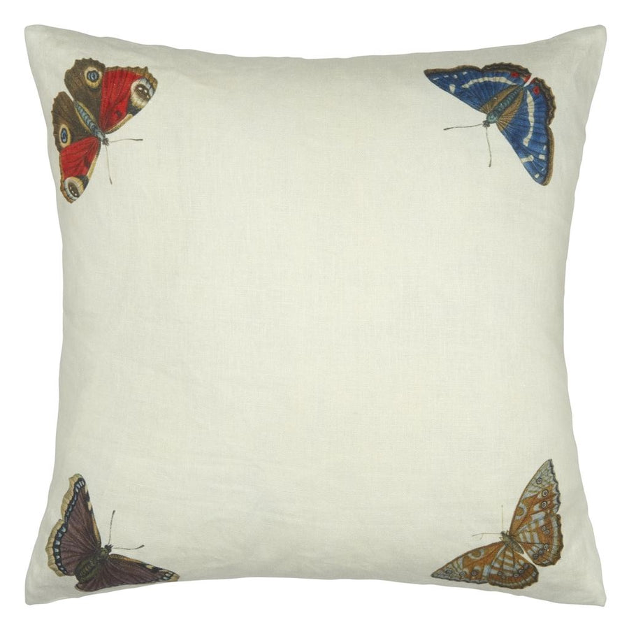 Mirrored Butterflies Carmine Cushion