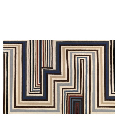Christian Lacroix Abstract Malachite Cobalt Standard Rug