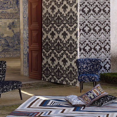 Christian Lacroix Abstract Malachite Cobalt Rug