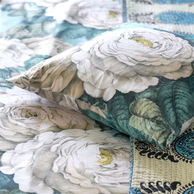 John Derian The Rose Swedish Blue Cushion