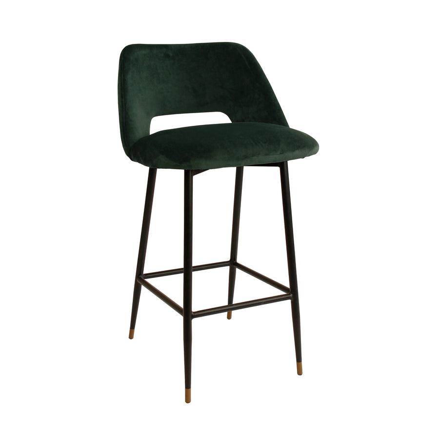 Milan Velvet Dark Green bar Stool
