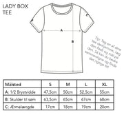 Lady Box Tee - Woodee, Deep Black