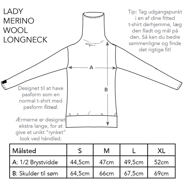 Lady Merino Wool Longneck, Jet Black