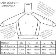 Lady Loosefit Turtleneck, Heather Grey