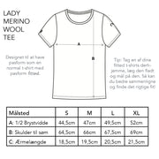 Lady Merino Wool Tee, Navy Blue