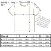 Mens Fitted Tee - Mountain, Optical White