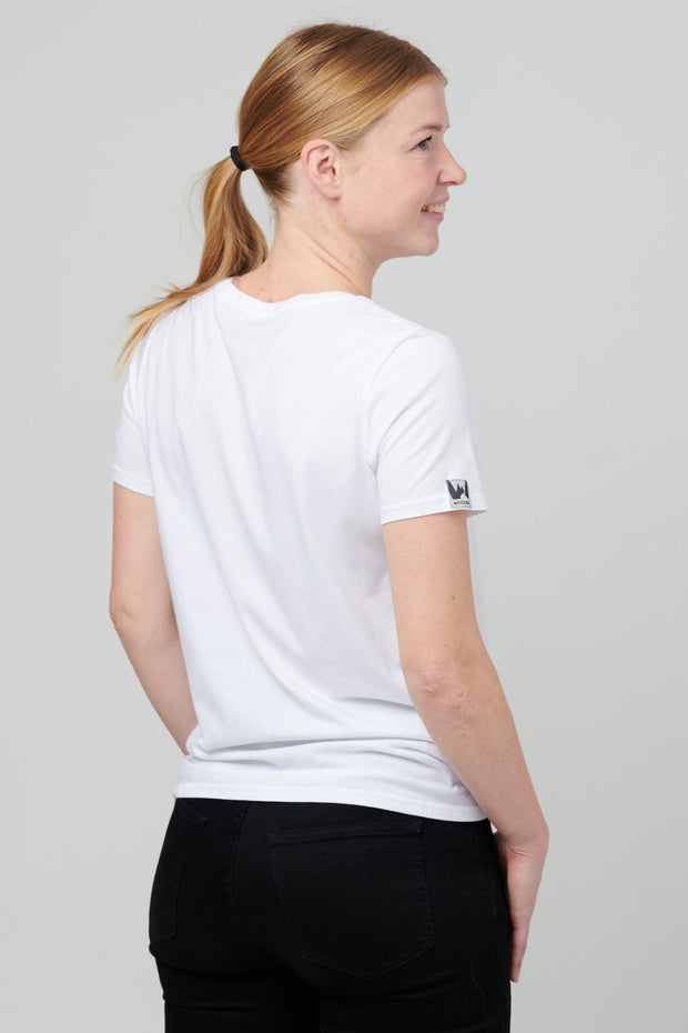 Lady Box Tee - Mountain, Optical White