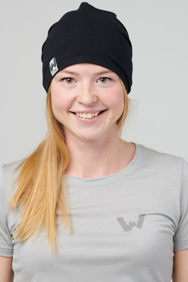 Woodee Sweat Beanie, Unisex - Deep black