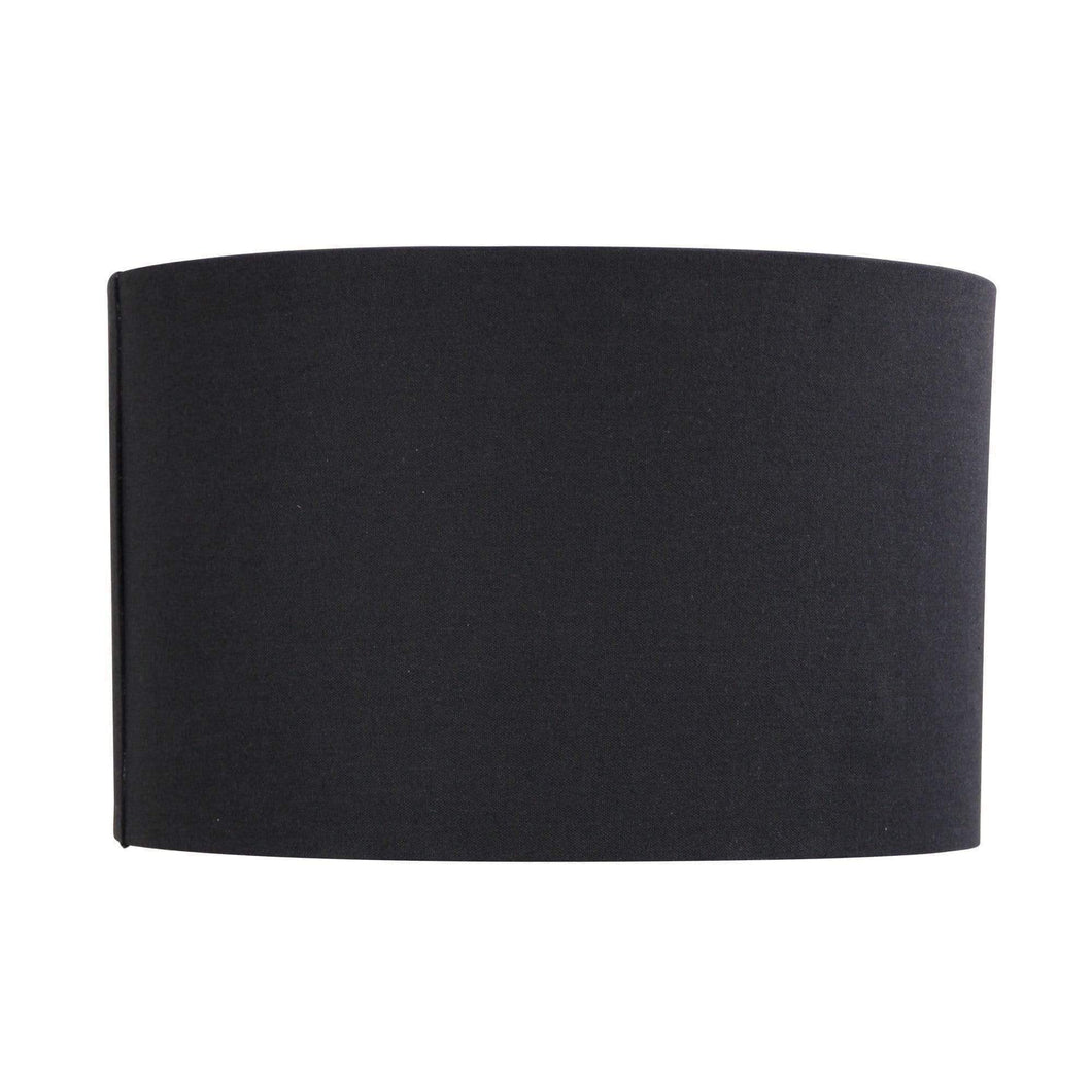 40cm Linen Lamp Shade Black or Linen - GUS LIVING LIFE CHANDELIERS AND LIGHTING