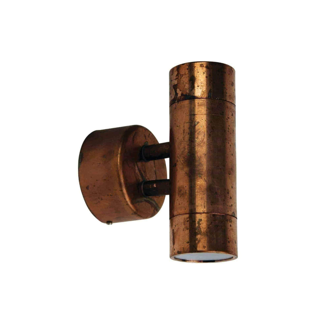 COMMA 2 OUTDOOR WALL LIGHT Raw Copper - GUS LIVING LIFE CHANDELIERS AND LIGHTING