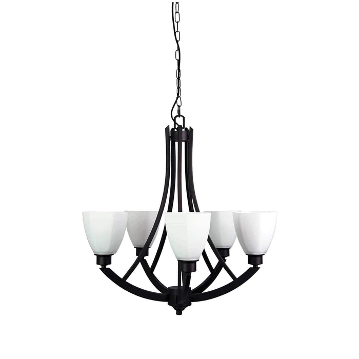 Bedford 5Lt Pendant Lighting - GUS LIVING LIFE CHANDELIERS AND LIGHTING