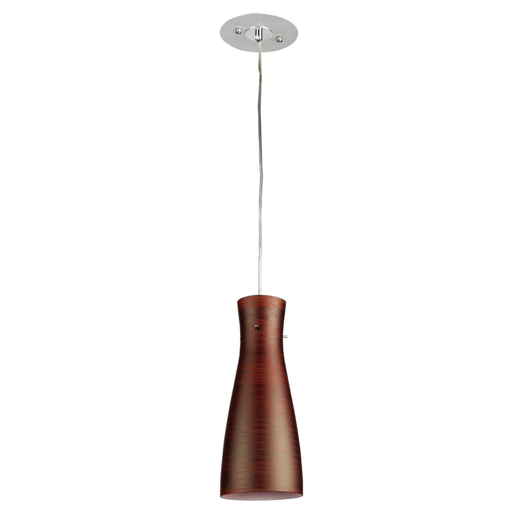 CLEO Red  Red Brushed 30cm Glass Pendant - GUS LIVING LIFE CHANDELIERS AND LIGHTING