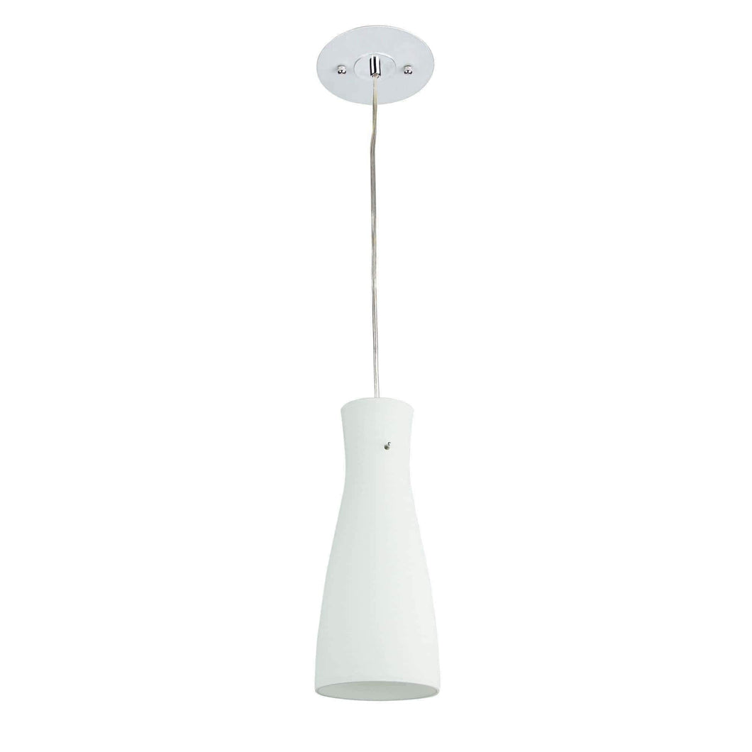 CLEO White  White Brushed 30cm Glass Pendant - GUS LIVING LIFE CHANDELIERS AND LIGHTING