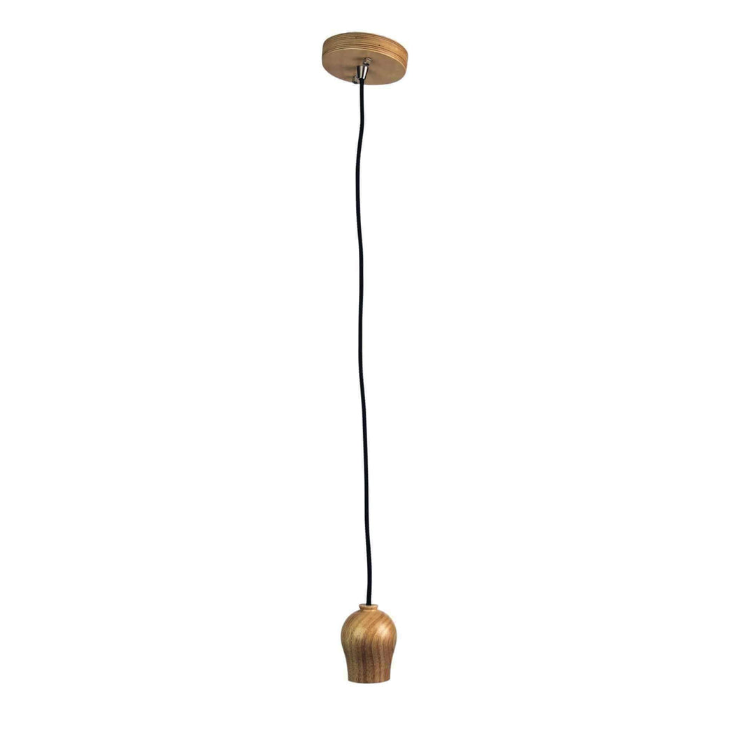 BUD  Timber and Cloth Cord Suspension 180cm - GUS LIVING LIFE CHANDELIERS AND LIGHTING