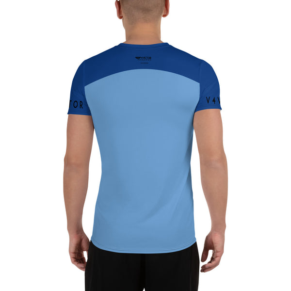 Anti-microbial Men's Athletic T-shirt - Blue