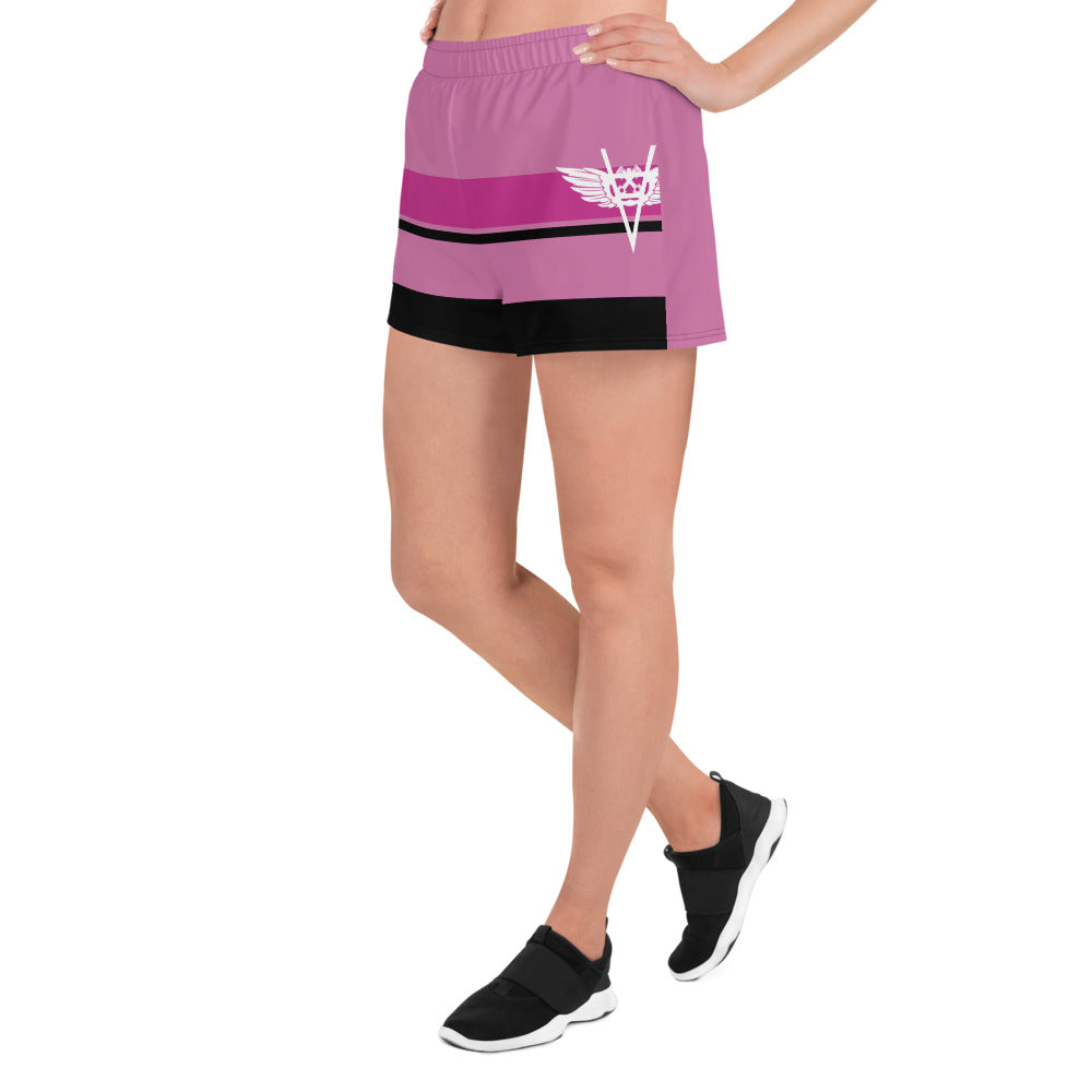 Women's Athletic Short Shorts- Pink