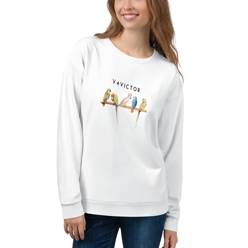 Loose-fit Sweatshirt for Women- Parrot
