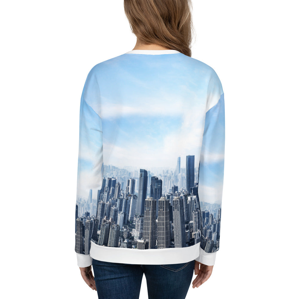 Loose-fit Sweatshirt for Women- Sky's The Limit