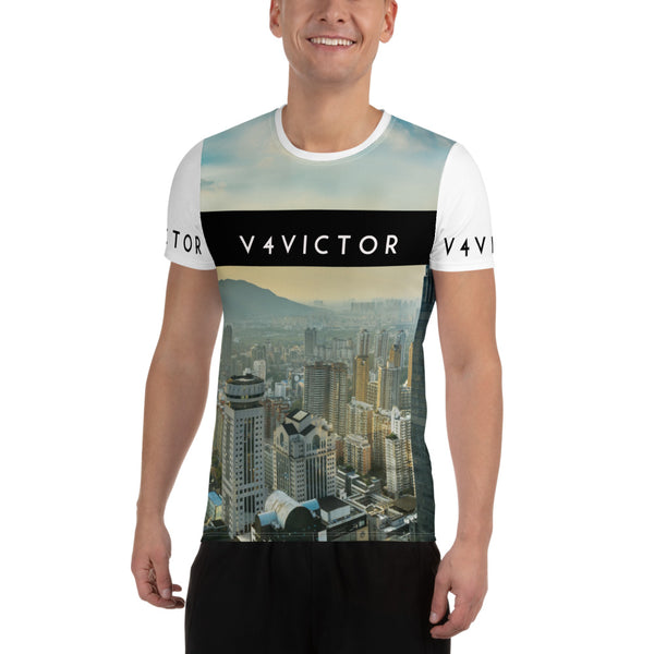 Anti-microbial Men's Athletic T-shirt - Skyline