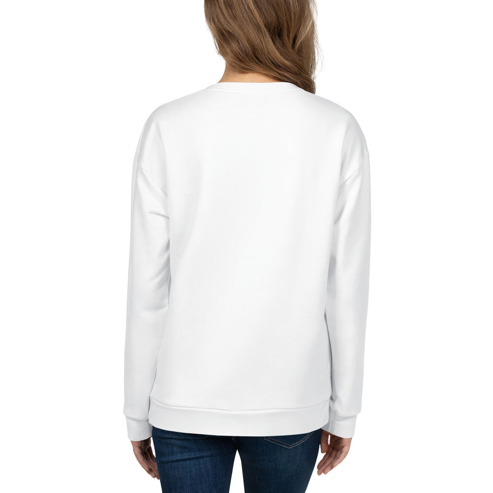 Loose-fit Sweatshirt for Women- Croco in white