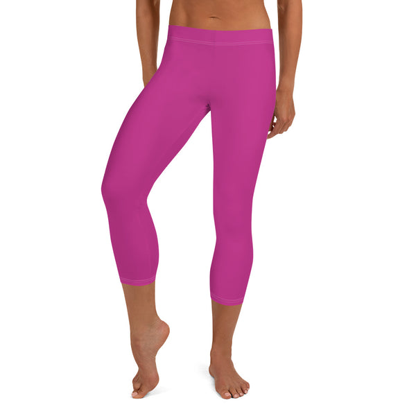 Capri Leggings - Hot Pink