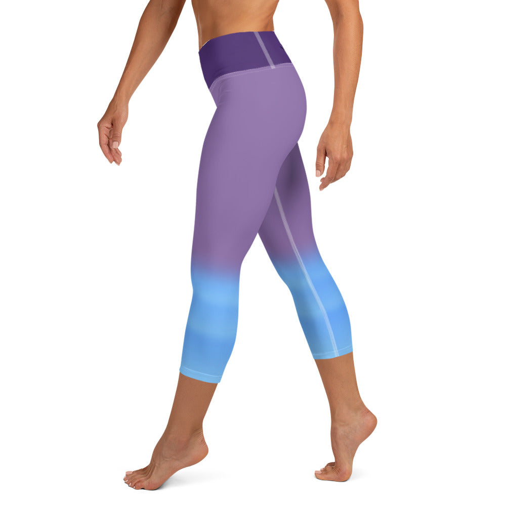 Yoga Capri Leggings with Pocket - Purple