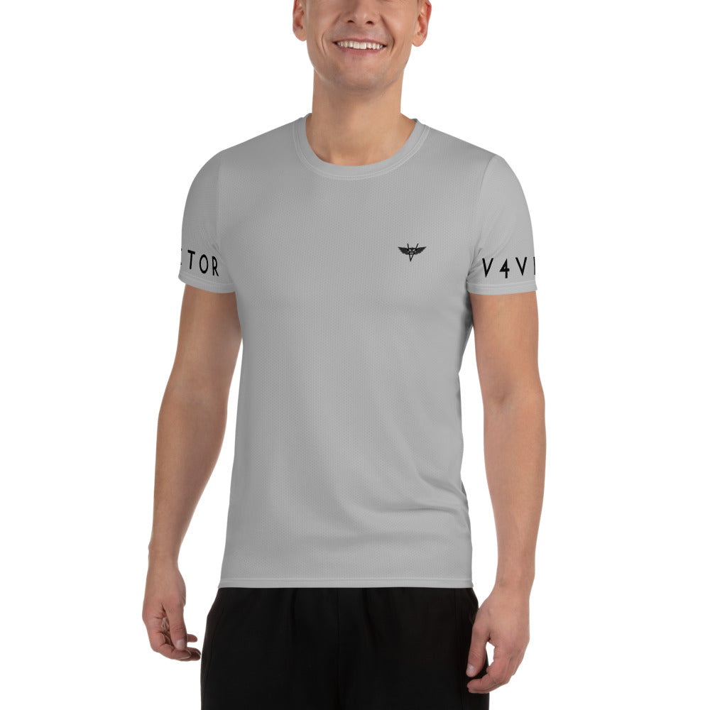 Anti-microbial Men's Athletic T-shirt - Light Grey