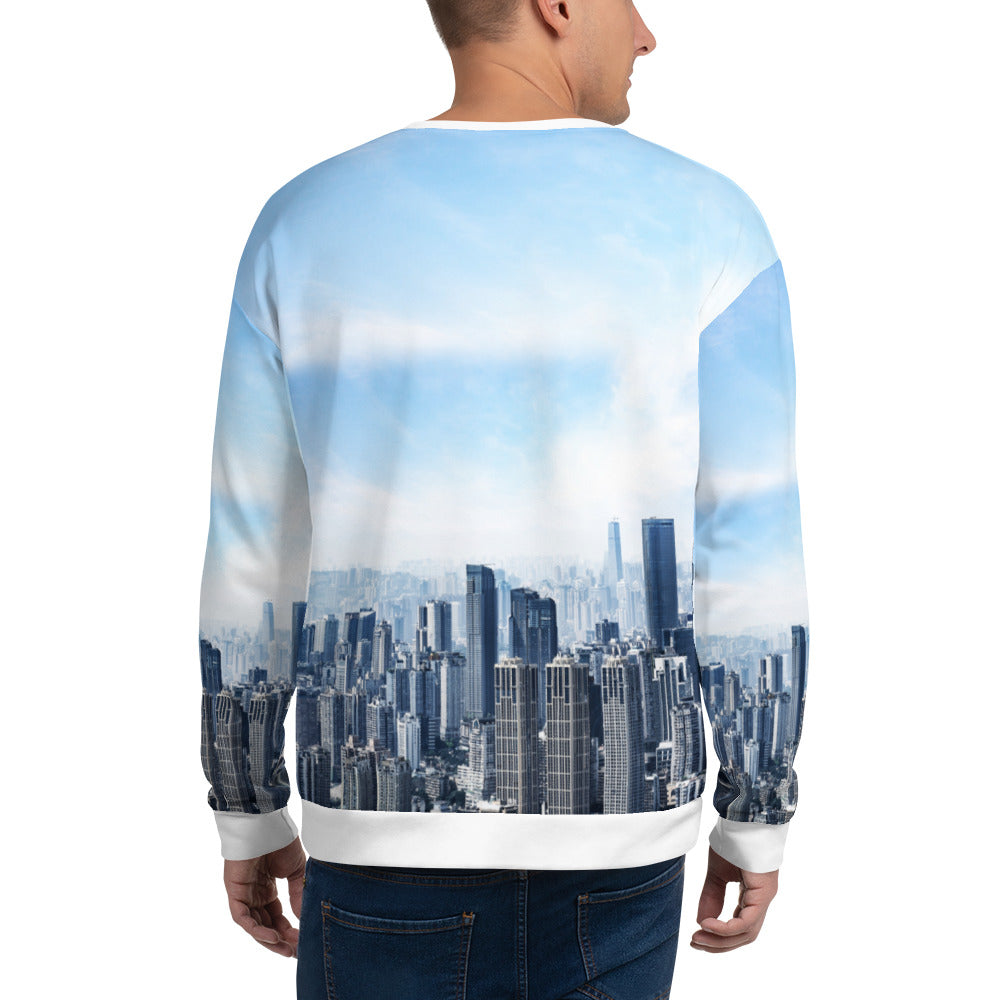 Loose-fit Sweatshirt for Men- Sky's The Limit