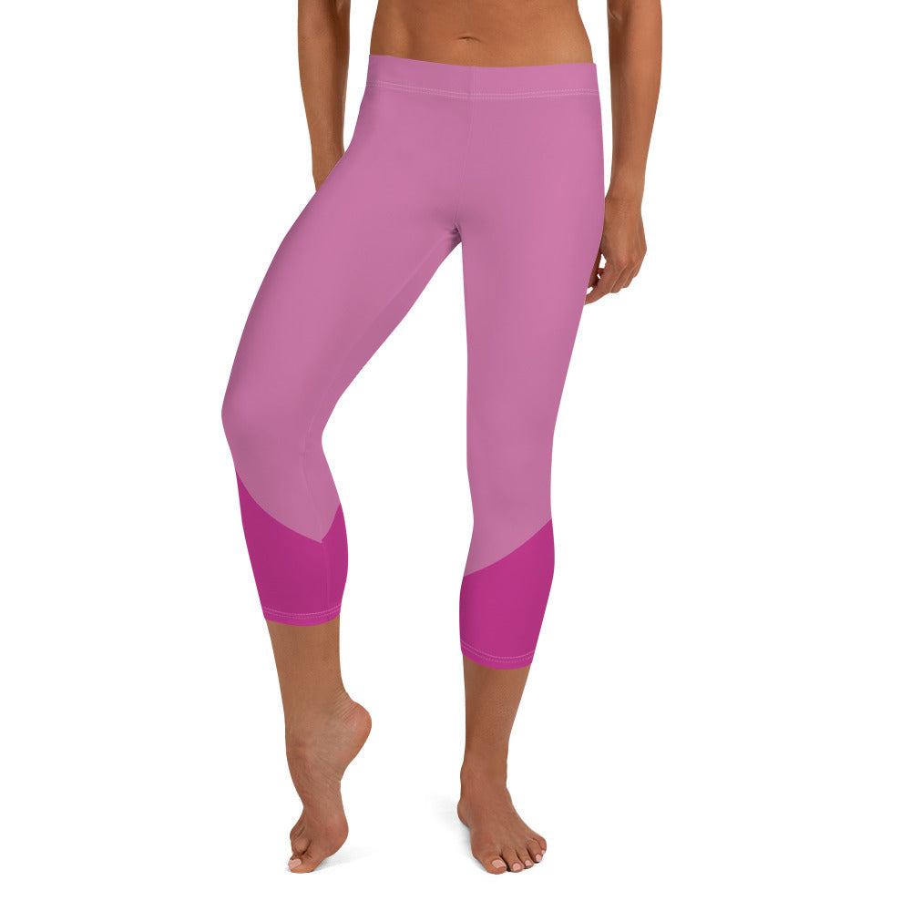Capri Leggings - Pink