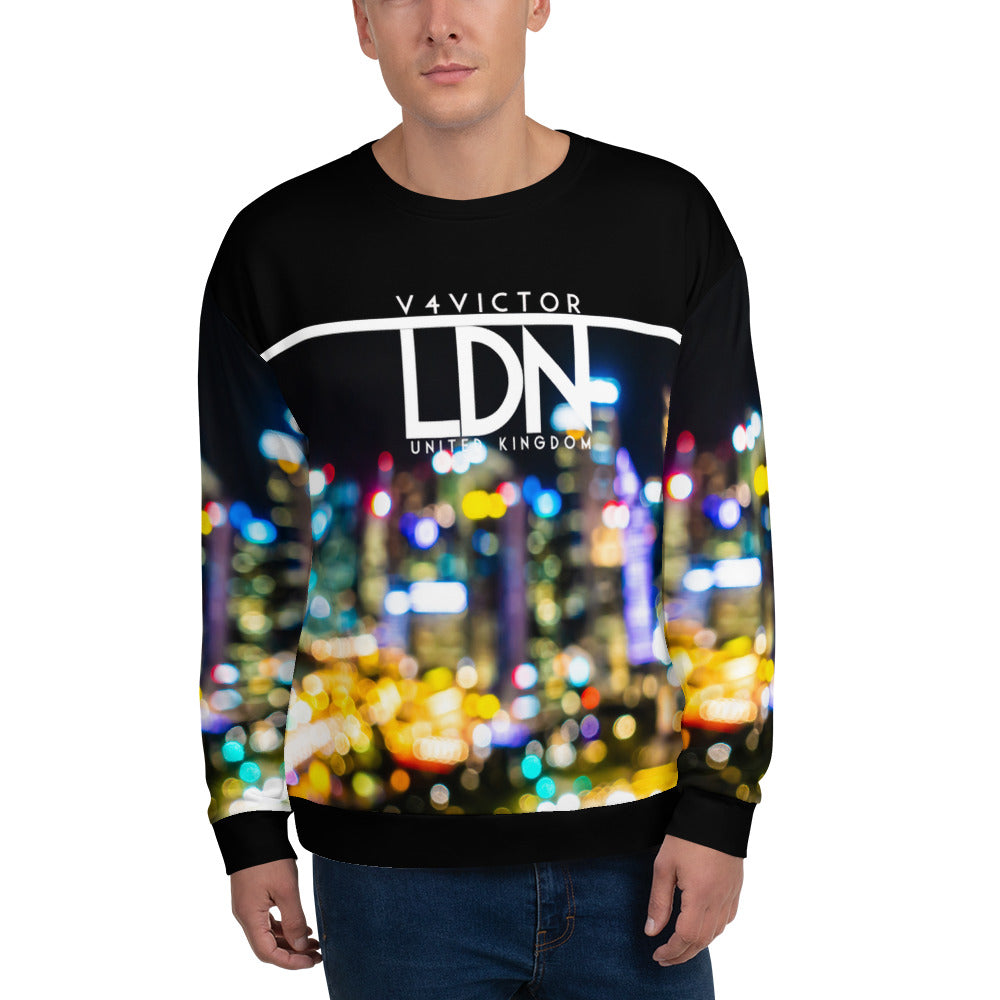Loose-fit Sweatshirt for Men- City Pixel Print