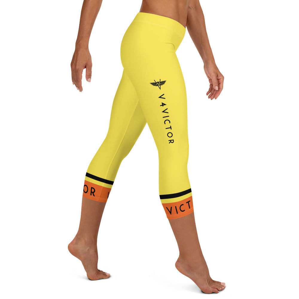 Capri Leggings - Yellow