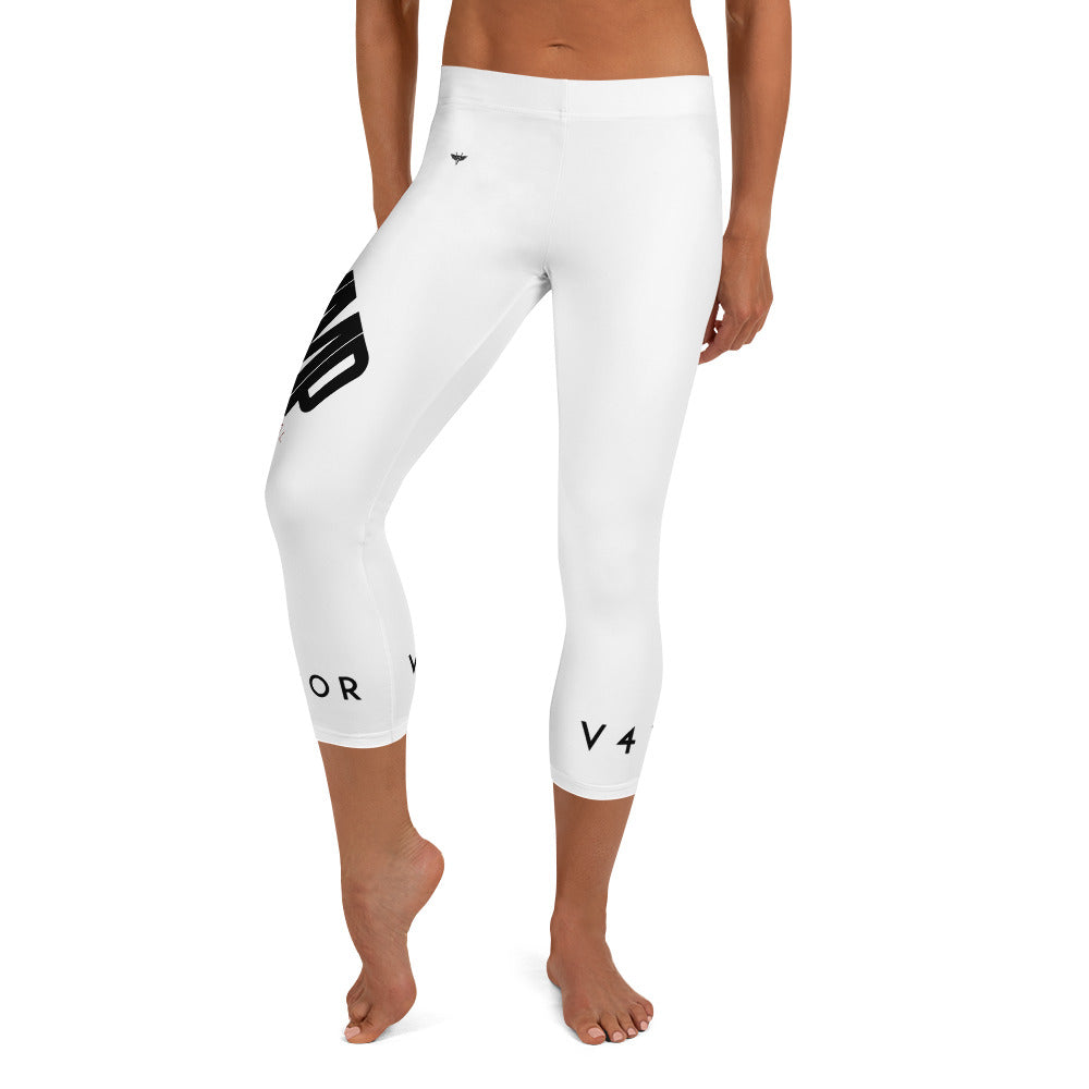 Capri Leggings - White