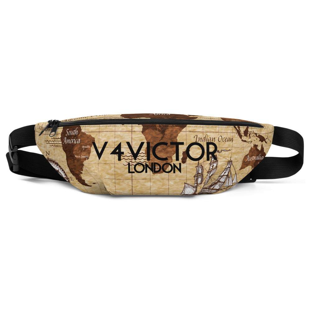 Waist Bag - Vintage World Map
