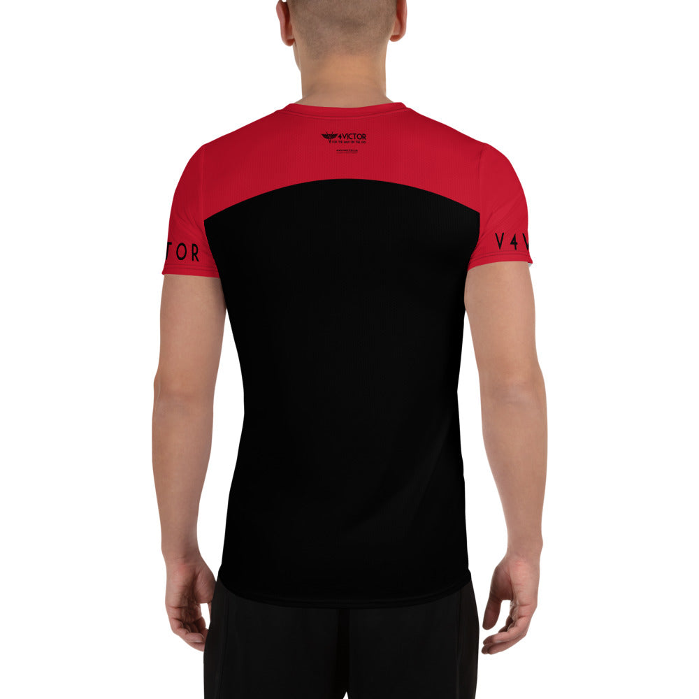 Anti-microbial Men's Athletic T-shirt -Red