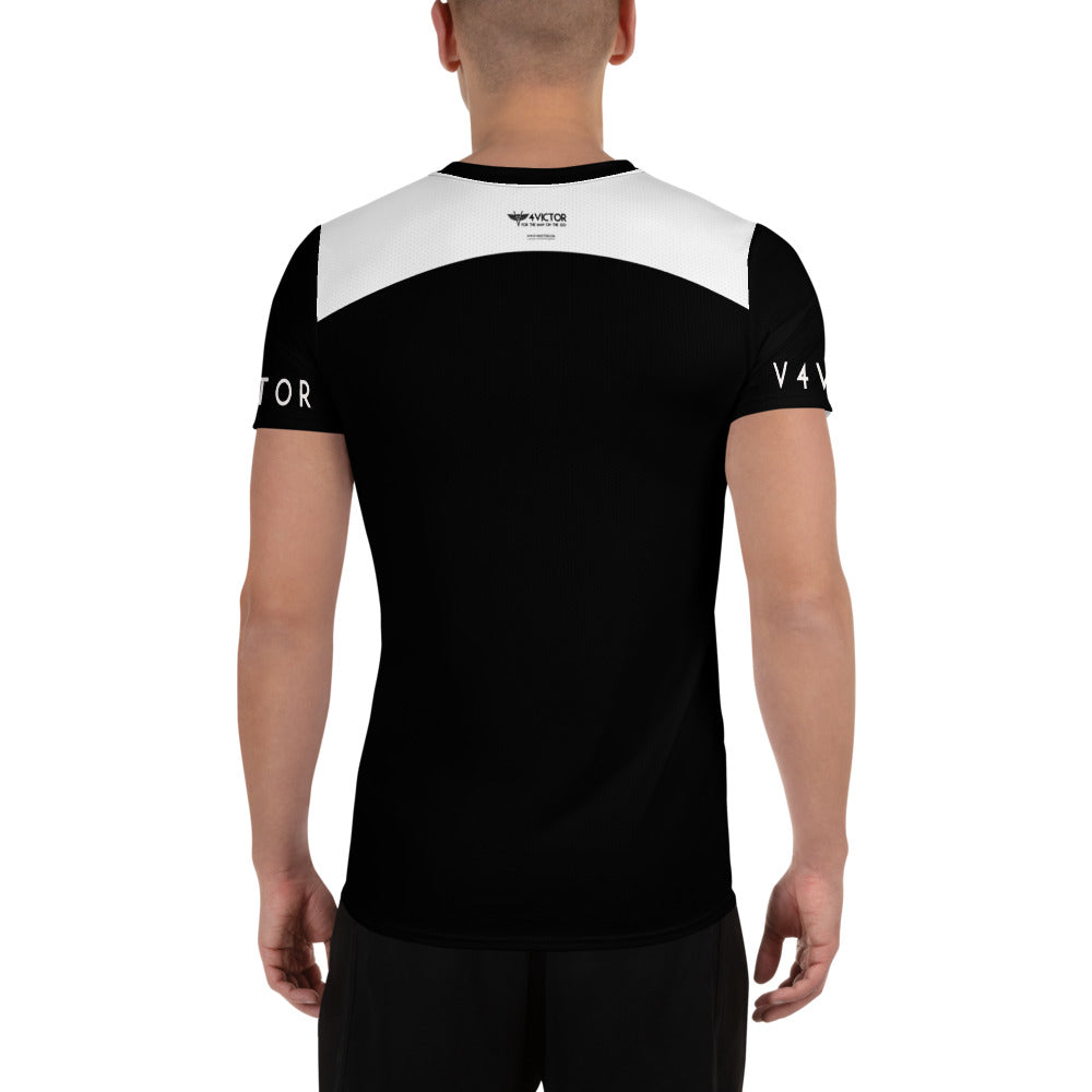 Anti-microbial Men's Athletic T-shirt - Black