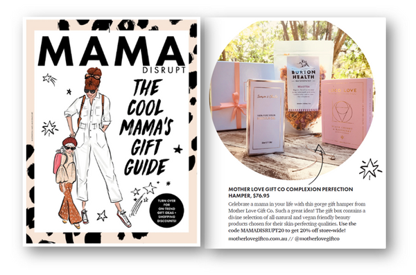 Mother Love Gift Co Gift Hampers featured in Mama Disrupt Cool Mamas Gift Guide