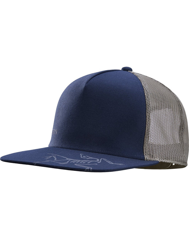 Bird Brim Flat Trucker Hat