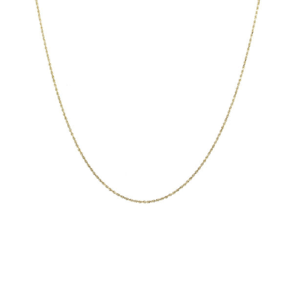 10K Gold 0.75MM Diamond Cut Rope Chain Necklace