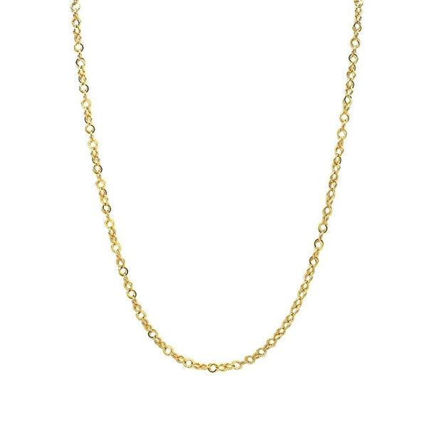 10K Solid Yellow Gold 4.0MM Corda / Open Rope Link Chain Necklace