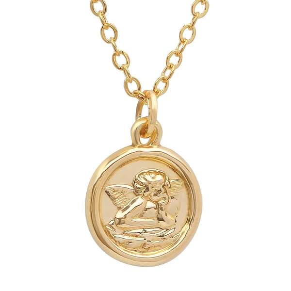 14K Solid Yellow Gold Religious Medallion Pendants in Diamond Cut cable chain necklace