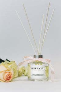 Pink Peony & Blush Suede Luxury Reed Diffuser