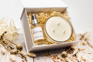 Three Wick Candle & Room Spray Gift Set