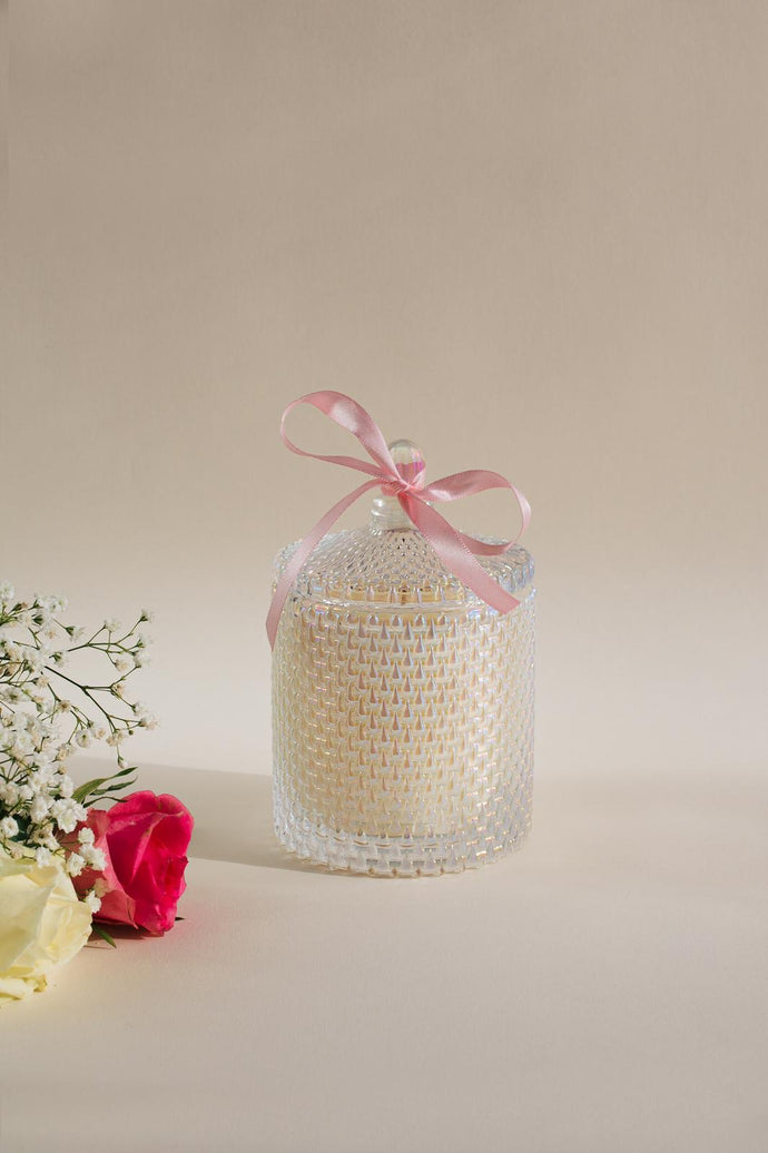 Mothers Day Glass Floret Soy Candle